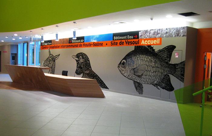 Impression numérique sur mur
